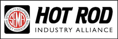 Hot Rod Industry Alliance logo in black and white